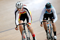 Conor Shearing (L) of Southland and Kyle Hoskin of West Coast North Island compete in the U17 Boys Sprint race  at the Age Group Track National Championships, Avantidrome, Home of Cycling, Cambridge, New Zealand, Friday, March 17, 2017. Mandatory Credit: © Dianne Manson/CyclingNZ  **NO ARCHIVING**