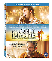 I Can Only Imagine (2018) <br /> DVD &amp; BLU RAY COVER ART<br /> *Filmstill - Editorial Use Only*<br /> CAP/MFS<br /> Image supplied by Capital Pictures
