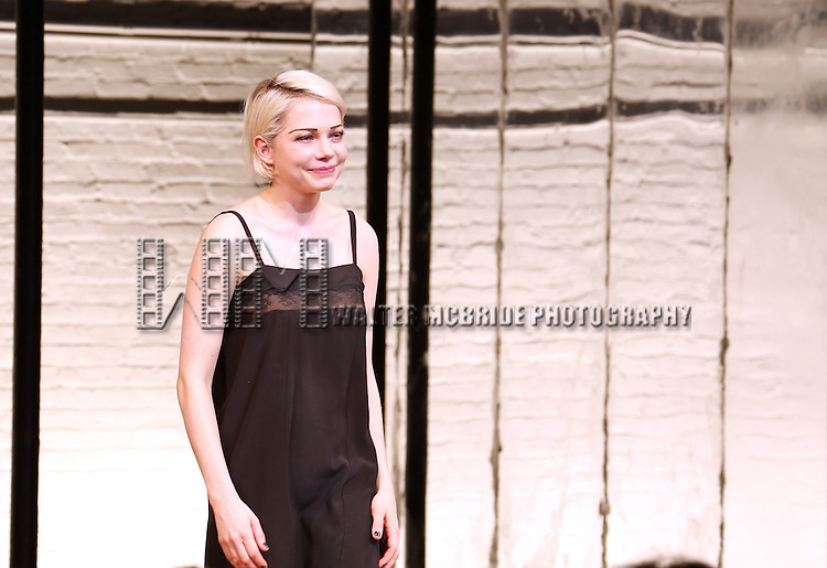 Michelle Williams during the Broadway Opening Night Performance Curtain Call for 'Cabaret' at Studio 54 on April 24, 2014 in New York City.