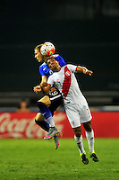 Paolo Hurtado of Peru goes up for a header. USA defeated Peru 2-1 during a Friendly Match at the RFK Stadium in Washington, D.C. on Friday, September 4, 2015.  Alan P. Santos/DC Sports Box