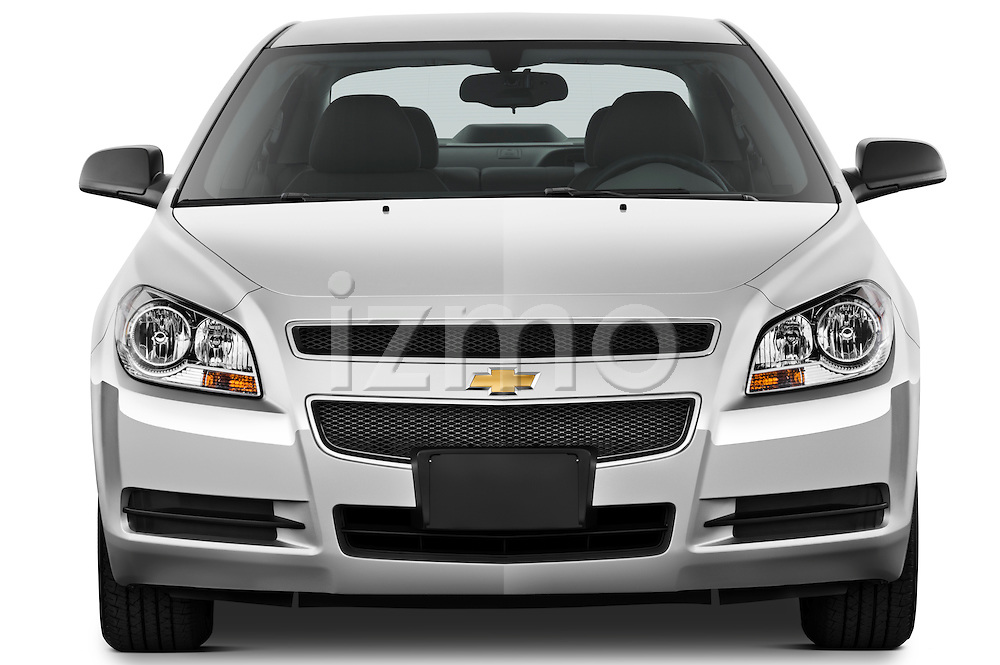 Straight front view of a 2012 Chevrolet Malibu 1LS