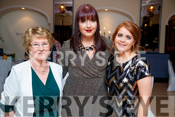 Carmel Mansfield, Kerry McCarthy and Triona Brassill, enjoying the Kerry Supporters Social at Ballygarry House Hotel and Spa, Tralee, on Saturday night last.