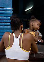 black woman with baby