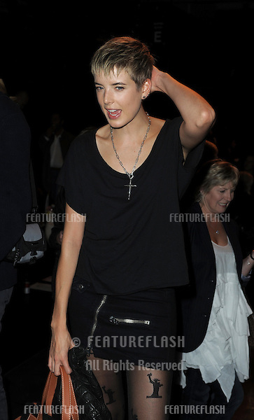 Agyness Deyn at the Henry Holland Show, London Fashion Week. 18/09/2010  Picture by: Simon Burchell / Featureflash