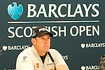 Lee Westwood is full of praise for Castle Stuart and playing links golf the week before The Open Championships at his press conference ahead of the Barclays Scottish Open, played over the links at Castle Stuart, Inverness, Scotland from 7th to 10th July 2011:  Picture Stuart Adams /www.golffile.ie  6th July 2011