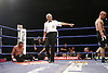 Carl Johanneson beats Michael Gomez for the British Super Featherweight title in the 6th round, the at Doncaster Dome, Doncaster, 19-10-07.