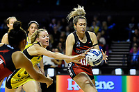 Tactix&rsquo; Brooke Leaver in action during the ANZ Premiership - Pulse v Tactix at TSB Arena, Wellington, New Zealand on Monday 14 May 2018.<br />