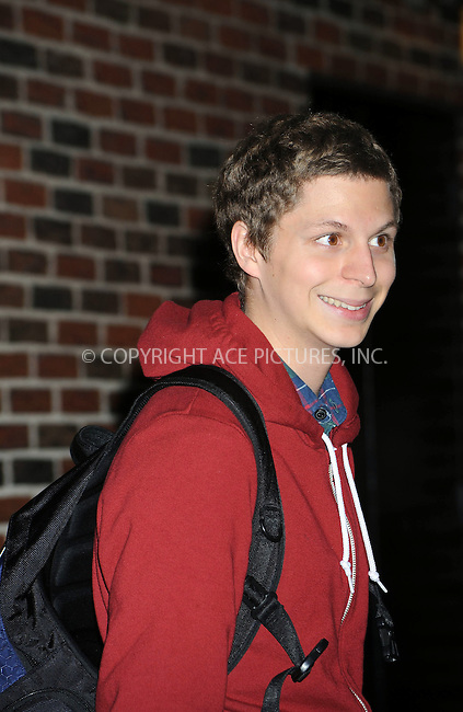 WWW.ACEPIXS.COM . . . . . ....September 29 2008, New York City....Actor Michael Cera made an appearance on the 'Late Show with David Letterman' on September 29 2008 in New York City.....Please byline: KRISTIN CALLAHAN - ACEPIXS.COM.. . . . . . ..Ace Pictures, Inc:  ..(646) 769 0430..e-mail: info@acepixs.com..web: http://www.acepixs.com