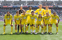 Columbus Crew starting eleven. The Columbus Crew and the LA Galaxy played to a 1-1 tie at Home Depot Center stadium in Carson, California on Sunday May 17, 2009.   .