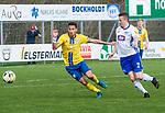 15.04.2018, 53acht Arena, Oldenburg, GER, Regionalliga Nord, SSV Jeddeloh vs Eintarcht Braunschweig II (U23), im Bild<br /> <br />  Florian ST&Uuml;TZ / STUETZ(SSV Jeddeloh #13 )<br />  Eric VEIGA (Eintracht Braunschweig II U23 #17)<br /> <br /> Foto &copy; nordphoto / Rojahn
