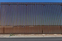 MEXICALI, MEXICO - April 5 A general view of the US-Mexico Border Fence on April 5, 2019 in Mexicali, Mexico.<br /> President Trump on Friday visited Calexico, a small city in a largely agricultural region between Arizona and the Pacific, to inspect an upgraded portion of fencing and to meet with law enforcement. That's more attention than usual for a border town that locals say is defined by its interconnection with Mexico, its infernal summers and its labor-based economy. <br /> (Photo by Luis Boza/VIEWpress)