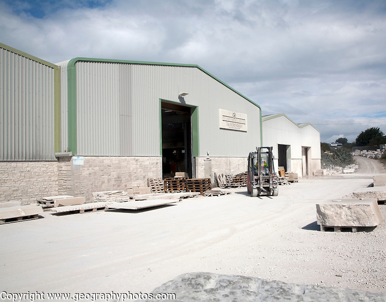 Portland Stone Firms Limited, the world's largest supplier of Portland stone, Isle of Portland, Dorset, England