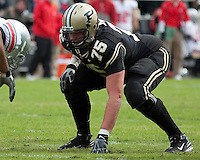 Purdue offensive guard Zack Redman. The Purdue Boilermakers defeated the Ohio State Buckeyes 26-18 at Ross-Ade Stadium, West Lafayette, Indiana on October 17, 2009..