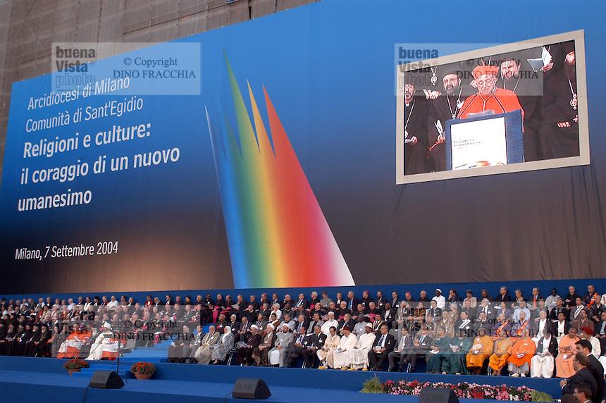 """- meeting ?Religions and Cultures? organized by the S.Egidio Community in Milan....- meeting """"Religioni e Culture"""" organizzato dalla Comunità S.Egidio a Milano"""
