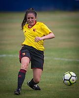 Chloe Bassett of Watford Ladies during the pre season friendly match between Stevenage Ladies FC and Watford Ladies at The County Ground, Letchworth Garden City, England on 16 July 2017. Photo by Andy Rowland / PRiME Media Images.