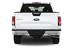 Straight rear view of a 2015 Ford F-150 XLT SuperCrew 145-in Door Pickup Rear View  stock images