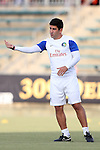 20 September 2014: Cosmos assistant coach Alecko Eskandarian. The Carolina RailHawks played the New York Cosmos at WakeMed Stadium in Cary, North Carolina in a 2014 North American Soccer League Fall Season match. Carolina won the game 5-4.