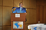 "DJERBA - TUNISIA - 13 March 2012 -- European Training Foundation (ETF) / Tunisian Ministry of Vocational Training and Employment (MFPE) Project Launch -  ""Human Capital for Regional Socio-Economic Development (Medenine, Tunisia)"". --  Abdelwahab MATAR, Minister of Vocational Training and Employment. -- PHOTO: Lindsay MACKENZIE / EUP-IMAGES."