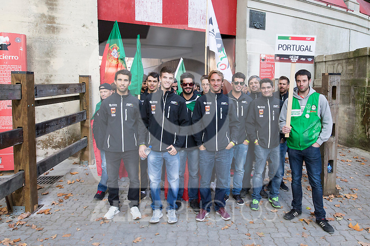 Portugal enduro team during the presentation of the FIM international six days of enduro 2016 in Pamplona, Spain. October 09, 2016. (ALTERPHOTOS/Rodrigo Jimenez)