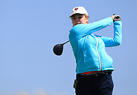 Chloe Royston (RSA) on the 9th tee during Round 3 of the Irish Women's Open Stroke Play Championship 2018 on Sunday 13th May 2018.<br /> Picture:  Thos Caffrey / Golffile<br /> <br /> All photo usage must carry mandatory copyright credit (&copy; Golffile | Thos Caffrey)