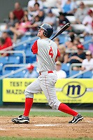July 4th 2008:  Outfielder Sean Ratliff (4) of the Brooklyn Cyclones, Class-A affiliate of the NY Mets, during game at Bowman Field in Williamsport, PA.  Photo by:  Mike Janes/Four Seam Images