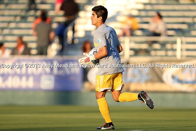20 April 2013: Carolina's Akira Fitzgerald. The Carolina RailHawks played the Fort Lauderdale Strikers at WakeMed Stadium in Cary, North Carolina in a North American Soccer League Spring 2013 Season regular season game.