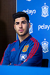 Spain's Marco Asensio during the press conference at the The Football City of the Royal Spanish Football Federation in Madrid 19th March 2019. (ALTERPHOTOS/Alconada)