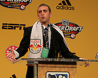 Corey Hertzog at the 2011 MLS Superdraft, in Baltimore, Maryland on January 13, 2010.