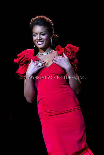 WWW.ACEPIXS.COM . . . . . ....February 2, 2007. New York City.....Zuleyka Rivera Mendoza, Miss Universe, wearing Gustavo Cidile during Heart Truth Red Dress Collection Fall 2007.....Please byline: KRISTIN CALLAHAN - ACEPIXS.COM.. . . . . . ..Ace Pictures, Inc:  ..(212) 243-8787 or (646) 679 0430..e-mail: picturedesk@acepixs.com..web: http://www.acepixs.com