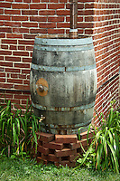 Rain water conservation barrel.