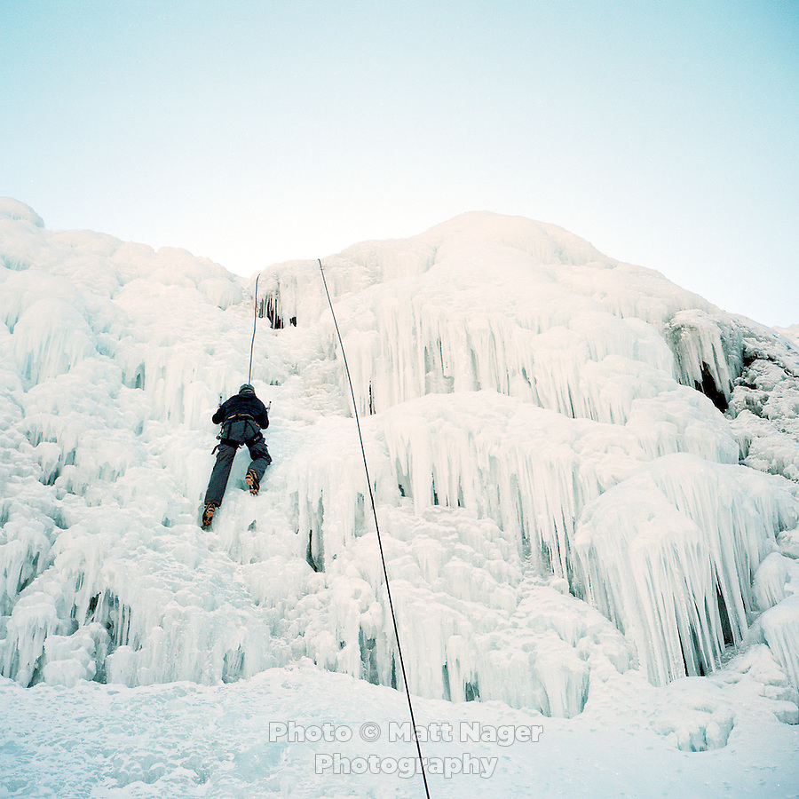 Ice climbing in Ouray, Colorado.<br /> <br /> Photo by Matt Nager