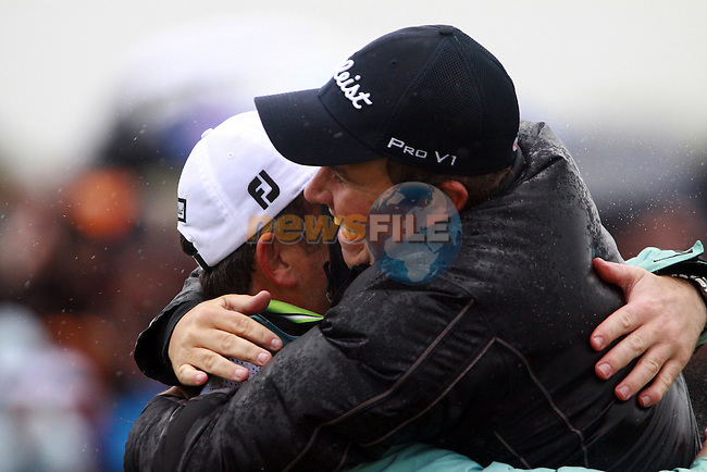 Shane Lowry celebrates winning the Irish Open on 17th of May 2009 at Baltray, Co. Louth, Ireland. (Photo by Manus O'Reilly/GOLFFILE)
