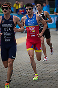 June 11th 2017, Leeds, Yorkshire, England; ITU World Triathlon Leeds 2017; Antonio Serrat Seoane competes in the running phase around Leeds city centre