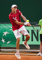 Austria, Kitzbühel, Juli 17, 2015, Tennis, Davis Cup, Second match between Robin Haase (NED and Andreas Haider-Maurer (AUT), pictured: Andreas Haider-Maurer <br /> Photo: Tennisimages/Henk Koster