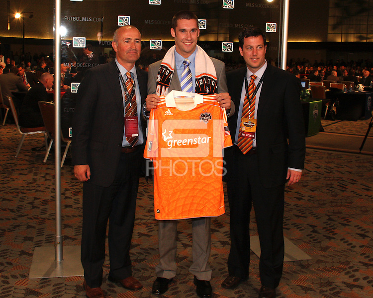 Will Bruin with Houston staff at the 2011 MLS Superdraft, in Baltimore, Maryland on January 13, 2010.
