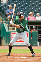 Andrew Cain (36) of the Augusta GreenJackets at bat against the Greensboro Grasshoppers at NewBridge Bank Park on August 11, 2013 in Greensboro, North Carolina.  The GreenJackets defeated the Grasshoppers 6-5 in game one of a double-header.  (Brian Westerholt/Four Seam Images)