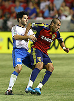 Mke Zaher and Yura Movsisyan in the San Jose Earthquakes @ Real Salt Lake 1-1 draw at Rio Tinto Stadium in Sandy, Utah on July 03, 2009