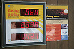 Digital display of solar electricity being generated and carbon dioxide emissions prevented