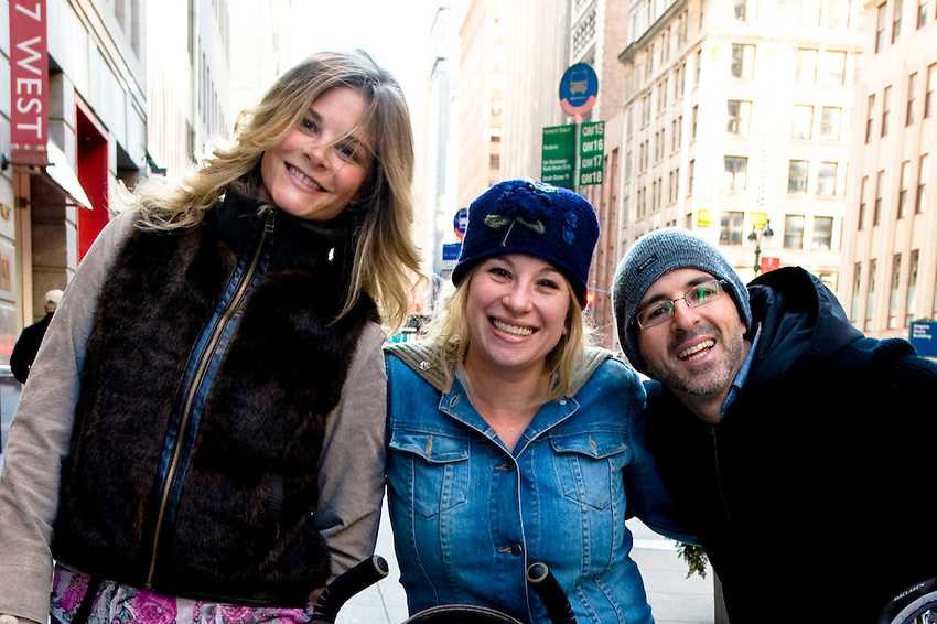 Carlina, Jess and Attilio on way to 2011 Macy's Thanksgiving Day Parade.