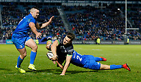 4th January 2020; RDS Arena, Dublin, Leinster, Ireland; Guinness Pro 14 Rugby, Leinster versus Connacht; Jamison Gibson-Park of Leinster tackles Sean Masterson of Connacht - Editorial Use