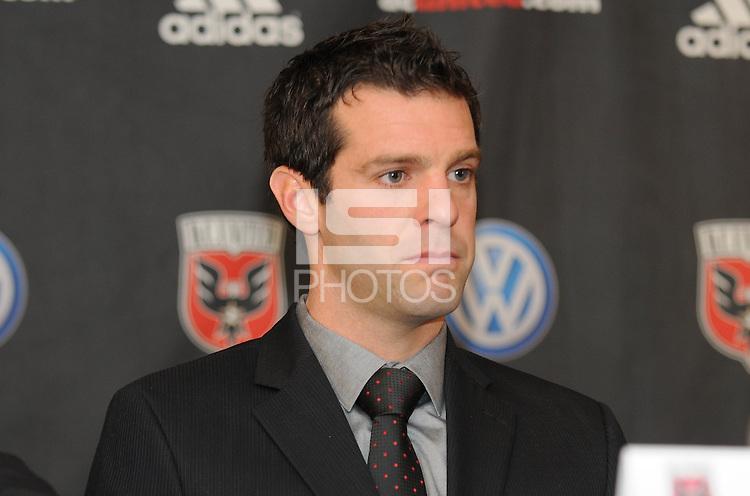 DC United Head Coach Ben Olsen at the presentation of his new position as Head Coach, RFK stadium November 29, 2010.