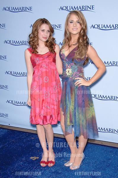 EMMA ROBERTS (left) & JOJO at Los Angeles premiere of her their movie Aquamarine..February 26, 2006  Los Angeles, CA.© 2006 Paul Smith / Featureflash