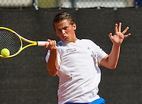 08-08-13, Netherlands, Rotterdam,  TV Victoria, Tennis, NJK 2013, National Junior Tennis Championships 2013, Alexander Popping<br /> <br /> <br /> Photo: Henk Koster