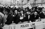 12 Jun 1969 --- A group of Orthodox Jewish men in New York City protest against the practice of autopsies in Israel. --- Image by © JP Laffont