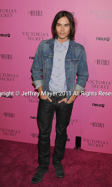 "LOS ANGELES, CA - MAY 12: Tyler Blackburn arrives to the Victoria's Secret 6th Annual ""What Is Sexy? List: Bombshell Summer Edition"" Pink Carpet Event at The Beverly on May 12, 2011 in Los Angeles, California."