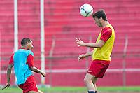San Pedro Sula, Honduras - February 5, 2013: US Men's National team training session at Estadio Olimpico.
