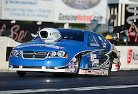 May 4, 2012; Commerce, GA, USA: NHRA pro stock driver Chris McGaha during qualifying for the Southern Nationals at Atlanta Dragway. Mandatory Credit: Mark J. Rebilas-