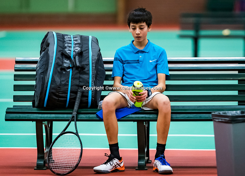 Wateringen, The Netherlands, November 27 2019, De Rhijenhof , NOJK 12 and16 years, Hidde van der Vliet (NED)<br /> Photo: www.tennisimages.com/Henk Koster
