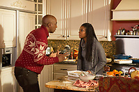 Almost Christmas (2016) <br /> J.B. Smoove &amp; Gabrielle Union<br /> *Filmstill - Editorial Use Only*<br /> CAP/KFS<br /> Image supplied by Capital Pictures