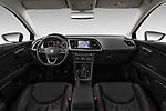 Stock photo of straight dashboard view of 2017 Seat Leon-ST FR 5 Door Wagon Dashboard